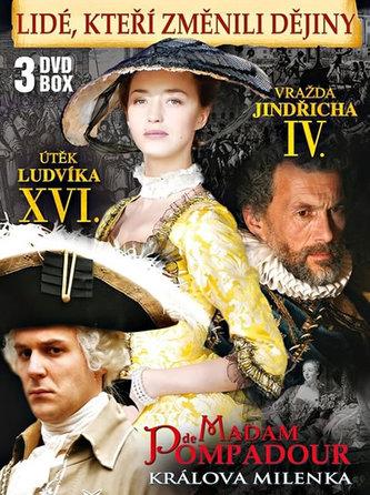 Lidé, kteří změnili dějiny - 3DVD BOX (Vražda Jindřicha IV., Madam de Pompadour - Králova milenka, Útěk Ludvíka XVI.)