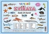 Zvířata ve vodě - Sada 24 karet
