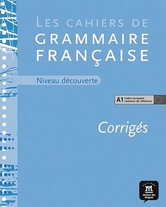 Cahier de grammaire A1 – corrigé