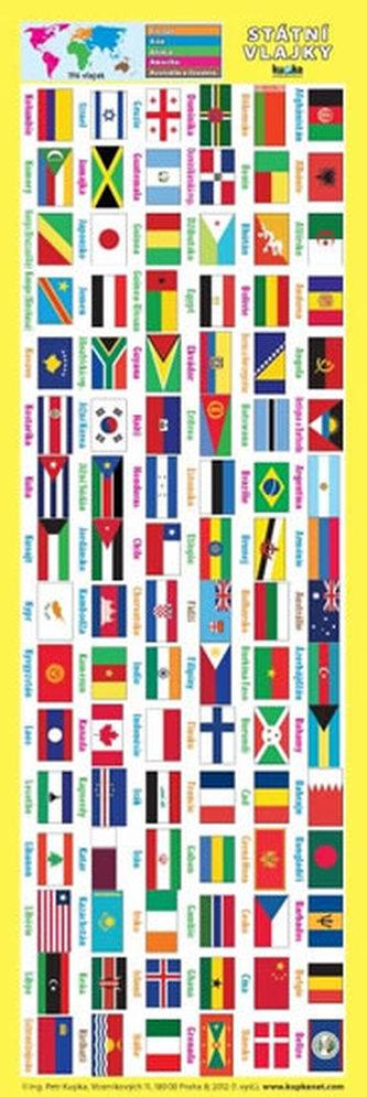 Záložka – Státní vlajky