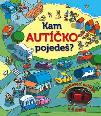 Kam autíčko pojedeš? Natahovací autíčko – kniha a 4 dráhy