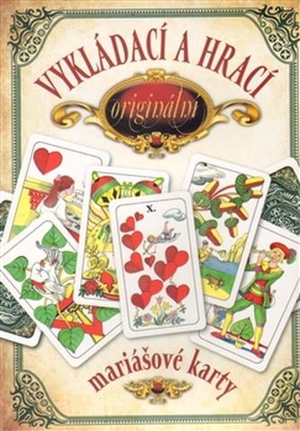 Vykládací a hrací originální mariášové karty – dárkový komplet