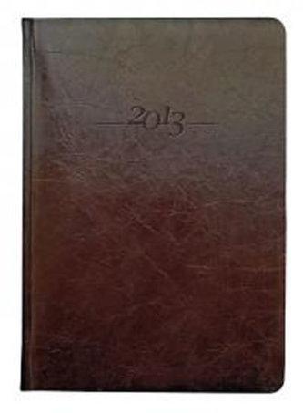 Diář kožený 2013 - CARUS hnědý - denní A5
