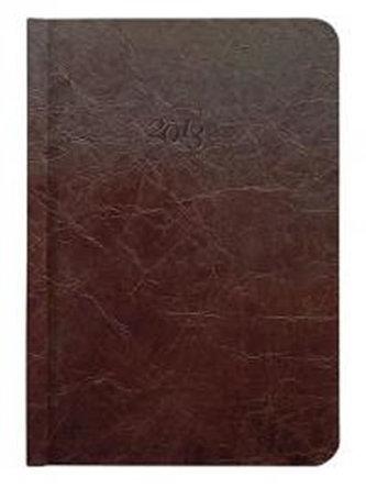 Diář kožený 2013 - CARUS hnědý - kapesní