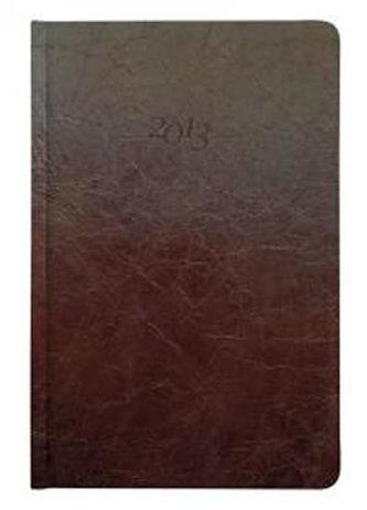Diář kožený 2013 - CARUS hnědý - týdenní B5