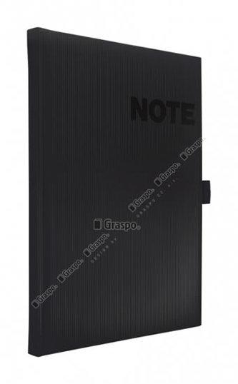 Notes Nona černý - čtverečkovaný A5