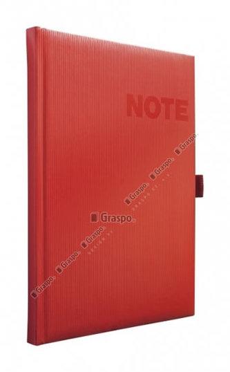 Notes Nona červený - čtverečkovaný A5