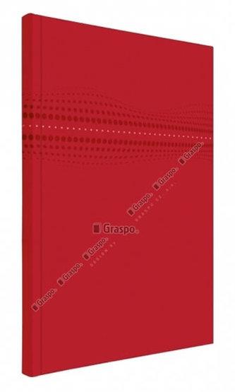 Notes STILO červený - linkovaný A4