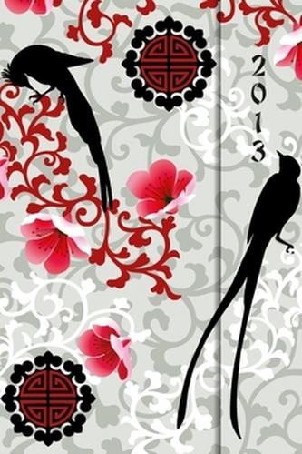 Diář 2013 - magnet. Ptáci a květiny 10,5 x 15,8 cm - CZ