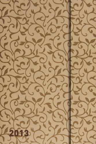 Diář 2013 - magnet. Softouch Gold 10,5 x 15,8 cm - CZ