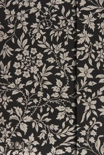 Diář 2013 - magnet. Softouch Silver Flowers 10,5 x 15,8 cm - CZ