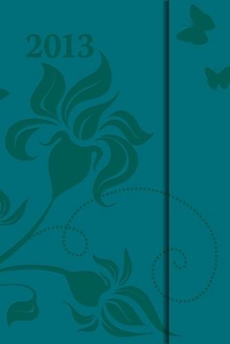 Diář 2013 - magnet. Tyrkysová 10,5 x 15,8 cm - CZ
