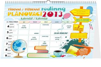 Kalendář 2013 - Týdenní rodinný plánovací s háčkem, 30 x 21 cm
