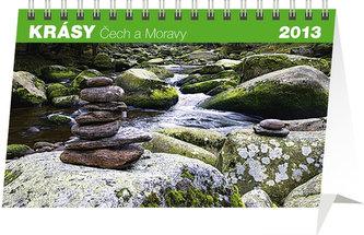 Kalendář 2013 stolní - Krásy Čech a Moravy, 23,1 x 14,5 cm