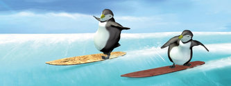 Záložka - Úžaska - Tučňáci na snowboardu