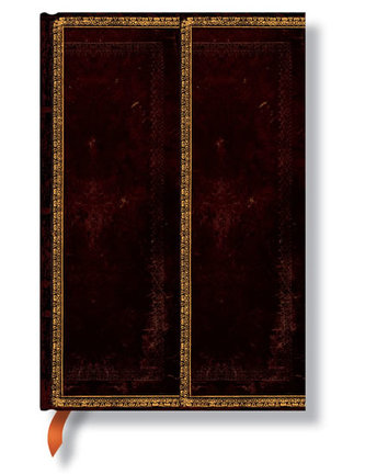 Zápisník - Black Moroccan Flexi Wrap, mini 95x140
