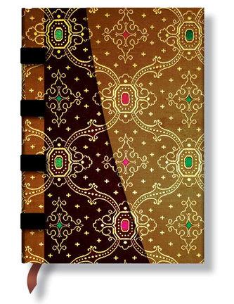 Zápisník - Noir-Cuivre Wrap, midi 120x170
