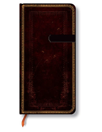 Zápisník - Black Moroccan, slim 90x180