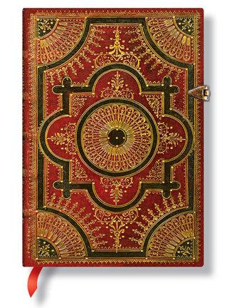 Zápisník - Ventaglio Rosso, midi 120x170