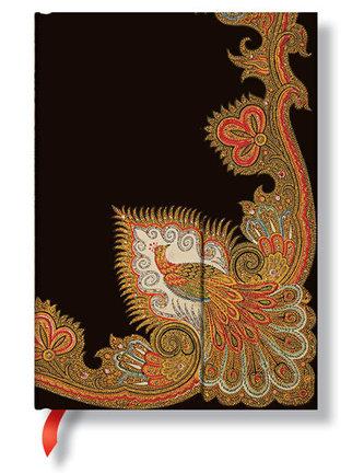 Zápisník - Swirling Peacock – Ebony Wrap, midi 120x170