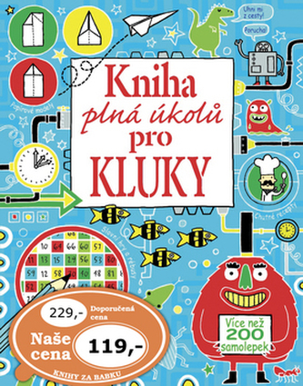 Kniha plná úkolů pro kluky
