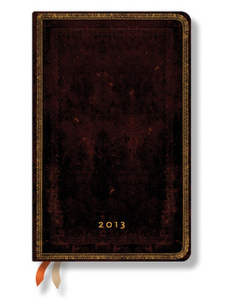 Diář 2013 - Black Moroccan - 12 měsíční, maxi 135x210 Horizontal