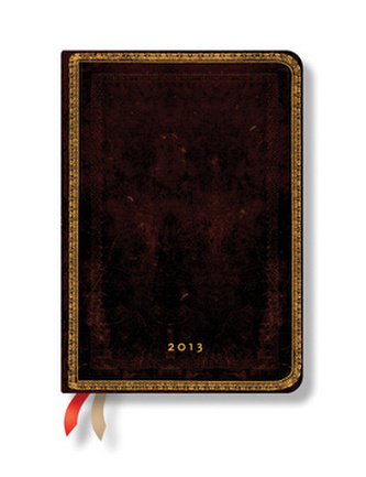 Diář 2013 - Black Moroccan - 12 měsíční, midi 120x170 Vertical