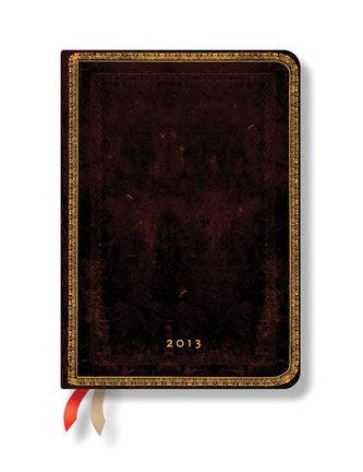 Diář 2013 - Black Moroccan - 12 měsíční, midi 120x170 Verso