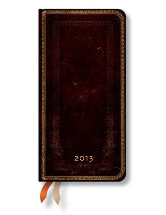 Diář 2013 - Black Moroccan - 12 měsíční, slim 90x180 Verso