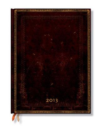 Diář 2013 - Black Moroccan - 12 měsíční, ultra 180x230 Week-at-a-Time Verso