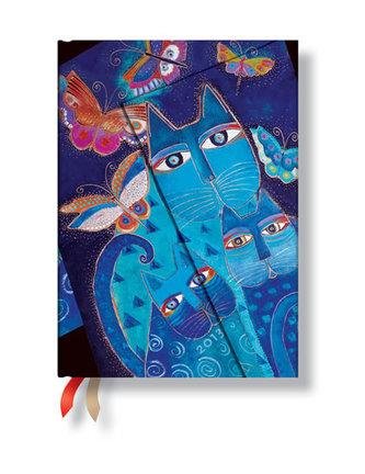 Diář 2013 - Blue Cats & Butterflies - 12 měsíční, midi 120x170 Horizontal