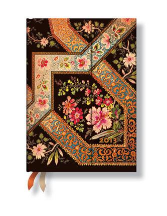 Diář 2013 - Filigree Floral Ebony - 12 měsíční, midi 130x180 Horizontal