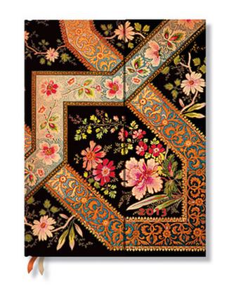 Diář 2013 - Filigree Floral Ebony - 12 měsíční, ultra 180x230 Horizontal
