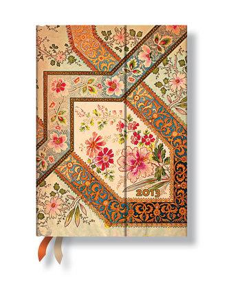 Diář 2013 - Filigree Floral Ivory - 12 měsíční, midi 120x170 Vertical