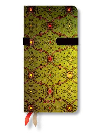 Diář 2013 - French Ornate Vert - 12 měsíční, slim 90x180 Verso