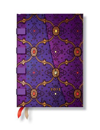 Diář 2013 - French Ornate Violet - 12 měsíční, midi 120x170 Horizontal