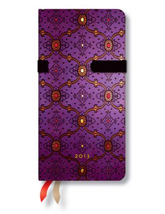 Diář 2013 - French Ornate Violet - 12 měsíční, slim 90x180
