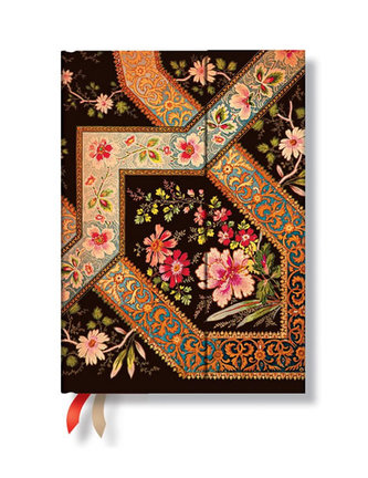 Zápisník - Filigree Floral – Ebony Wrap, midi 120x170