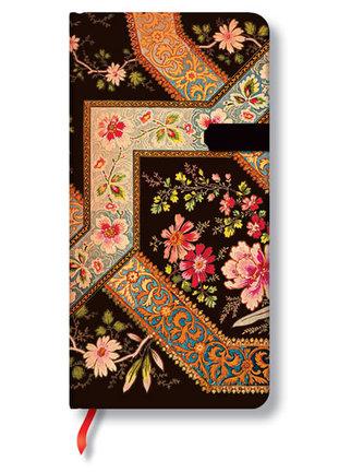 Zápisník - Filigree Floral Ebony Slim, slim 90x180