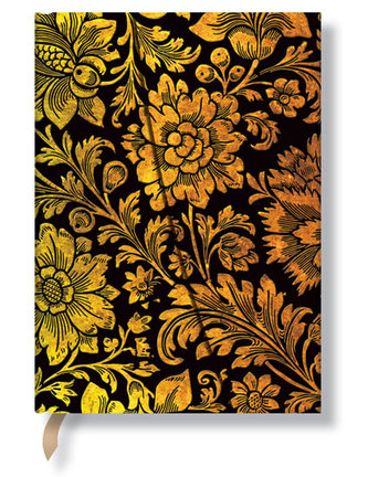 Zápisník - Midnight Gold Wrap, midi 120x170