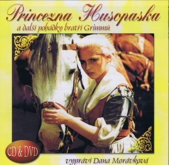 Princezna husopaska a další pohádky bratří Grimmů CD+DVD (čte Dana Morávková)