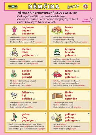 Němčina karty 1 - nepravidelná slovesa