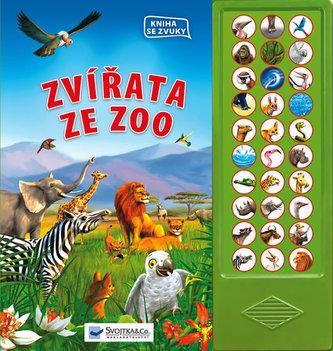 Zvířata ze zoo – kniha se zvuky