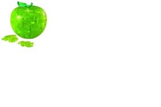 Zelené jablko - 3D Krystal puzzle