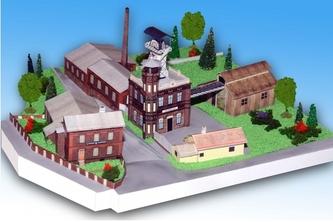Důlní muzeum Příbram - Ševčínský důl - Stavebnice papírového modelu