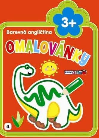 Dino - Barevná angličtina - Omalovánky