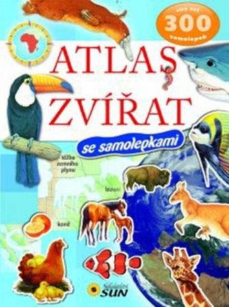 Atlas zvířat - 300 samolepek - 2. vydání
