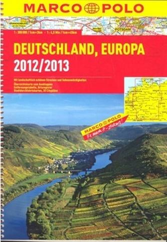 Německo, Evropa/atlas-spirála 1:300 000 MD