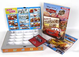 Balíček 3ks Kufřík na autíčko, vystřihovánka, časopis Auta s hračkou
