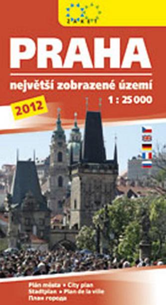 Praha největší zobrazované území 2012